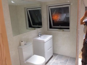 ensuite with mirror