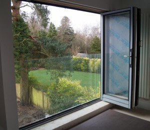 Balcony - Frameless Juliet at Solihull - from inside