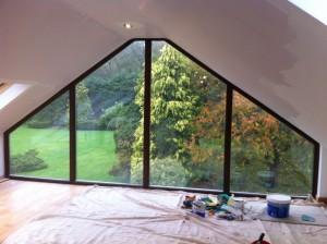 large gable window